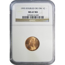 1995/95 Lincoln Cent Double Die - NGC MS67 RD - GEM PLUS PLUS UNCIRCULATED