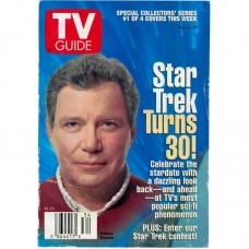 TV Guide 8/24/1996 Star Trek Captains Complete Set