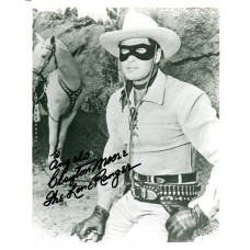 Clayton Moore as The Lone Ranger Black Sharpie Signature 1975