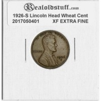 1926-S Lincoln Cent - XF-40 CIRCULATED BROWN - 2017050401