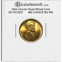 1944 Lincoln Cent - MS-63 RD MINT STATE CHOICE UNCIRCULATED RED - 2017072607