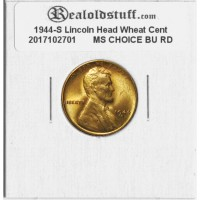 1944-S Lincoln Cent - MS-65 RD MINT STATE GEM UNCIRCULATED RED - 20170102701