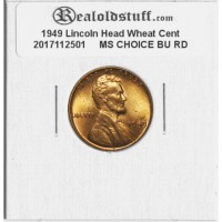 1949 Lincoln Cent - MS-63 RD MINT STATE CHOICE UNCIRCULATED RED - 2017112501