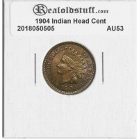 1904 Indian Head Cent ALMOST UNCIRCULATED AU53 - 2018050505