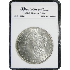 1879-S Morgan Silver Dollar GEM BU MS65 - 2018050703