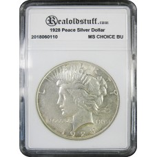 1928 Peace Silver Dollar CHOICE BU MS63 - 2018050801