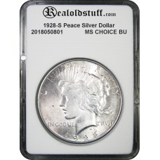 1928-S Peace Silver Dollar CHOICE BU MS63 - 2018050802