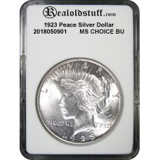 1923 Peace Silver Dollar CHOICE BU MS63 - 2018050901