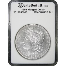 1903 Morgan Silver Dollar CHOICE BU MS63 - 2018050903