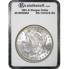 1881-S Morgan Silver Dollar CHOICE BU MS63 - 2018050904