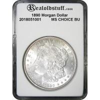 1890 Morgan Silver Dollar CHOICE BU MS63 - 2018051001