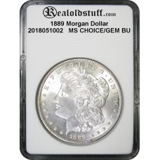 1889 Morgan Silver Dollar CHOICE/GEM BU MS64 - 2018051002