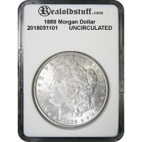 1889 Morgan Silver Dollar Brilliant Uncirculated BU MS60 - 2018051101