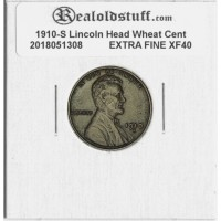 1910-S Lincoln Cent - XF-40 EXTRA FINE CIRCULATED BROWN - 2018051308