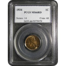1934 Lincoln Cent - PCGS MS-66 RD MINT STATE GEM PLUS UNCIRCULATED RED - 2018051809