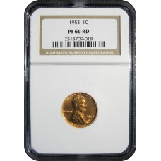 1953 Lincoln Cent - NGC PF-66 RD MINT STATE GEM PLUIS PROOF RED - 2018052907