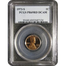 1973-S Lincoln Cent - PCGS PR-69 RD DEEP CAMEO PROOF RED - 2018061201