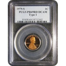 1979-S Type I Lincoln Cent - PCGS PR-69 DEEP CAMEO RD MINT STATE NEAR PERFECT RED - 2018061504