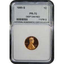 1985-S Lincoln Cent - NNC PR-70 RD MINT STATE PERFECT DEEP CAMEO PROOF RED - 2018062003