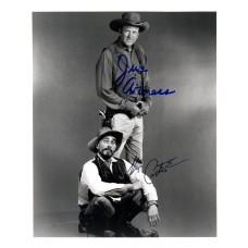 James Arness, Ken Curtis Gunsmoke Signatures in Blue and Black Sharpies