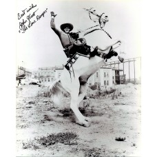 John Hart The Original Lone Ranger Black Sharpie Signature 1978